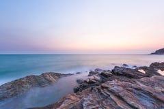 日落的海运 库存照片