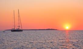日落的海 免版税图库摄影