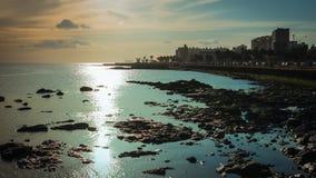 日落的海洋 免版税库存图片
