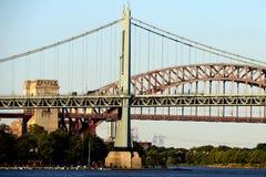 日落的罗伯特・肯尼迪大桥 免版税库存图片