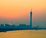 日落的美丽的广州 免版税库存图片