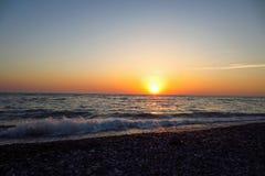 日落的美丽的景色 免版税库存图片