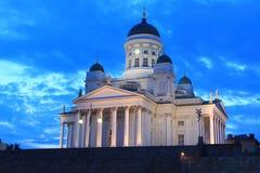 日落的赫尔辛基 图库摄影