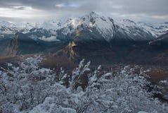 日落的阿尔卑斯 库存照片