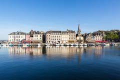 日落的,翁夫勒,诺曼底,法国,欧洲老港口 图库摄影