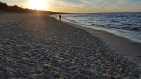 日落的02波罗的海 库存照片
