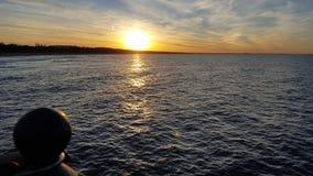 日落的04波罗的海 库存图片