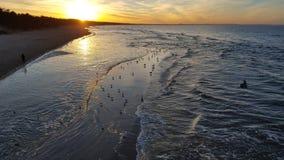 日落的05波罗的海 库存图片