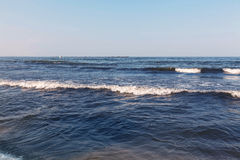 日落的黑海 免版税库存图片