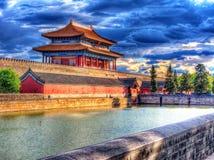 日落的紫禁城 图库摄影