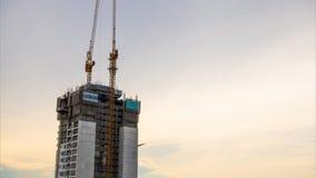日落的建筑 股票录像
