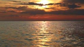 日落的Baikal湖 股票录像