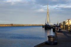 日落的Blyth港口 图库摄影