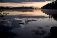 日落的Cranberry湖 免版税库存照片