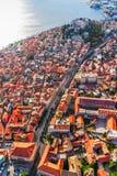日落的Sibenik老城镇 免版税库存图片