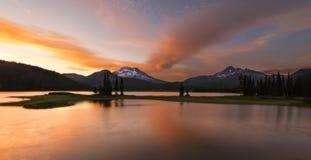 日落的Sparks湖 免版税图库摄影