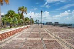 日落码头,基韦斯特岛 免版税库存照片