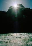 日落科罗拉多河 免版税库存图片