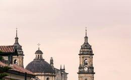 日落第二视图的大教堂 免版税库存照片