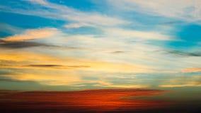 日落纹理 在哥斯达黎加的日落 免版税库存图片