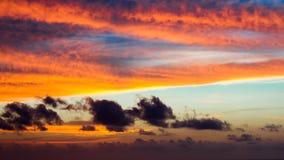 日落纹理 在哥斯达黎加的日落 图库摄影