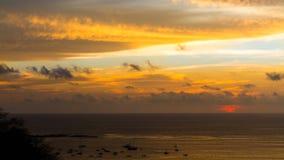 日落纹理 在哥斯达黎加的日落 免版税图库摄影