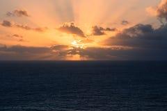 日落罗卡角,葡萄牙 免版税库存图片