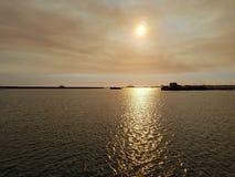日落美好的神色  库存照片