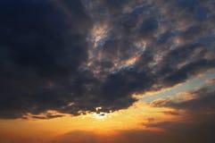 日落自然 库存照片