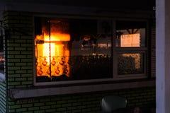 日落茶屋在Cinarcik -土耳其 库存照片