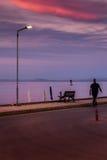 日落街道 免版税图库摄影