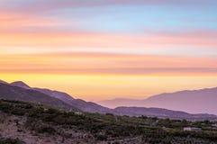日落覆盖日出 免版税图库摄影