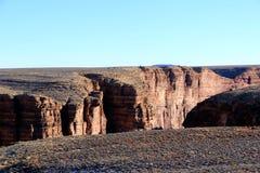 日落视图的大峡谷全景 图库摄影