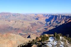 日落视图的大峡谷全景 免版税库存照片