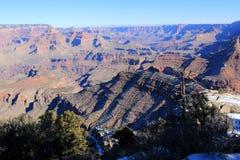 日落视图的大峡谷全景 库存照片