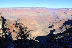 日落视图的大峡谷全景 库存图片