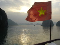 日落越南 库存照片