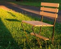 日落长凳 库存图片