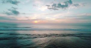 日落鸟瞰图在巴厘岛海岛上的  影视素材