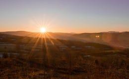 日落,北部威尔士,英国 库存图片
