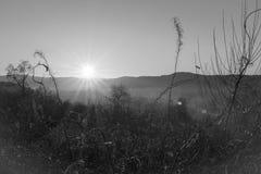 日落,北部威尔士,英国 免版税库存照片