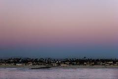 日落,圣地亚哥 免版税库存图片