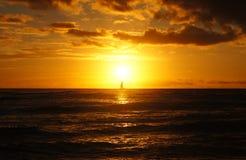 日落,夏威夷,美国 图库摄影