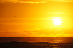 日落,夏威夷,美国 免版税图库摄影