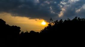 日落,天空,云彩 库存照片