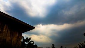 日落,天空,云彩 免版税库存照片