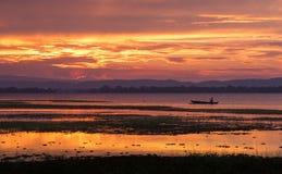 日落,斯里兰卡 库存照片