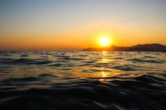 日落,晚上,风景,黄昏,风景,克里米亚,黑海,海 库存照片