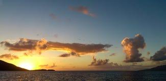 日落,瓜德罗普 图库摄影