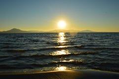 日落,西班牙 库存照片
